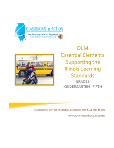 Grades K-5 Essential Elements without Illinois Learning Standards