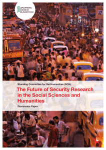 The Future of Security Research in the Social Sciences and