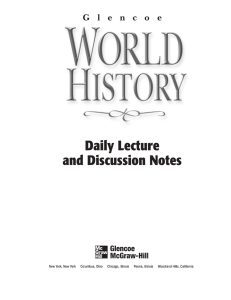 Daily Lecture and Discussion Notes