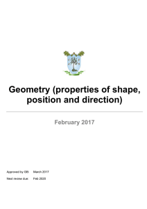 Geometry Policy - Churchfields Junior School