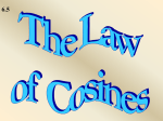 6.5 Law of Cosines