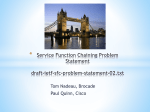 Service Function Chaining Problem Statement draft-ietf-sfc