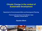 Climate Change in the context of Sustainable Development