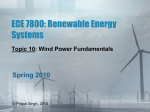 ECE 7800: Renewable Energy Systems