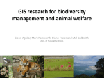 Aguilar-GIS research for biodiversity management