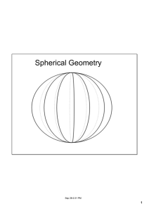 Spherical Geometry