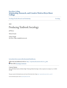 Producing Textbook Sociology - Scholarship, Research, and