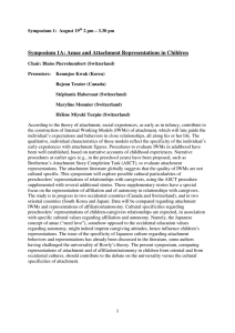 Symposium 1A: Amae and Attachment Representations in Children