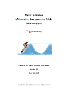 Math Handbook of Formulas, Processes and Tricks