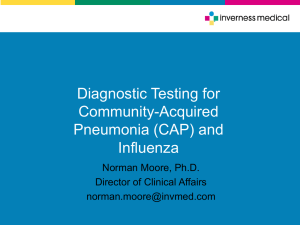 Current Status of Pneumonia and Influenza Diagnostics