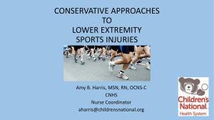 conservative approaches to lower extremity sports injuries