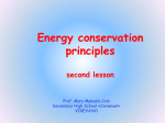 Energy conservation principles
