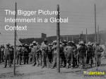 Internment in a global context