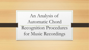 An Analysis of Automatic Chord Recognition Procedures for Music