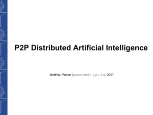 P2P Distributed Artificial Intelligence