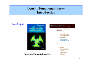 Density Functional theory Introduction
