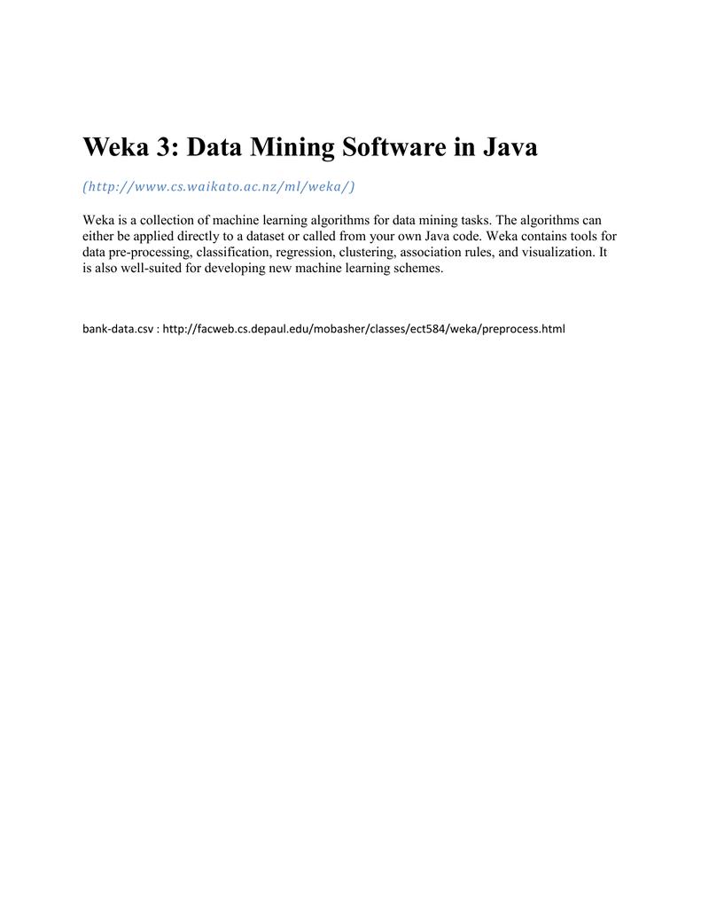 Weka 3: Data Mining Software in Java - DV-News