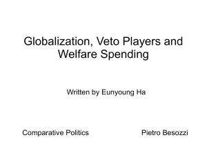 the impact of globalization on welfare expenditures