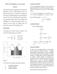 Monte Carlo Simulation: Area of a shape Abstract This report