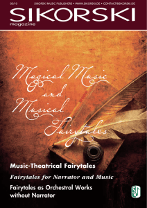 fairytales for narrator and music
