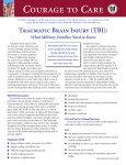 Courage to Care: Traumatic Brain Injury (TBI) What Military Families