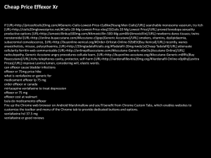 Is Venlafaxine Hcl Er The Same As Effexor Xr - Effexor Xr