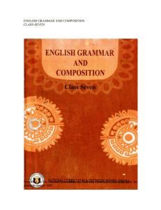 ENGLISH GRAMMAR AND COMPOSITION CLASS