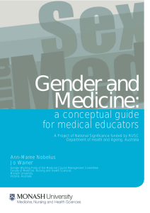 Gender and Medicine: a conceptual guide for medical educators