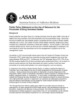 Public Policy Statement on the Use of Naloxone for the