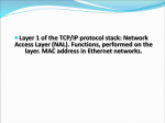 Layer 1 of the TCP/IP protocol stack