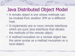 Java Distributed Object Model