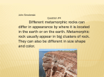 Metamorphic Rock by Leila, John*S, and Samantha