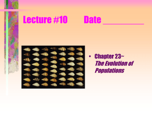Lecture #10 Date ______