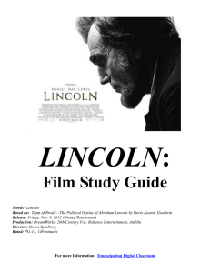 Lincoln Movie Study Guide-TEACHER COPY