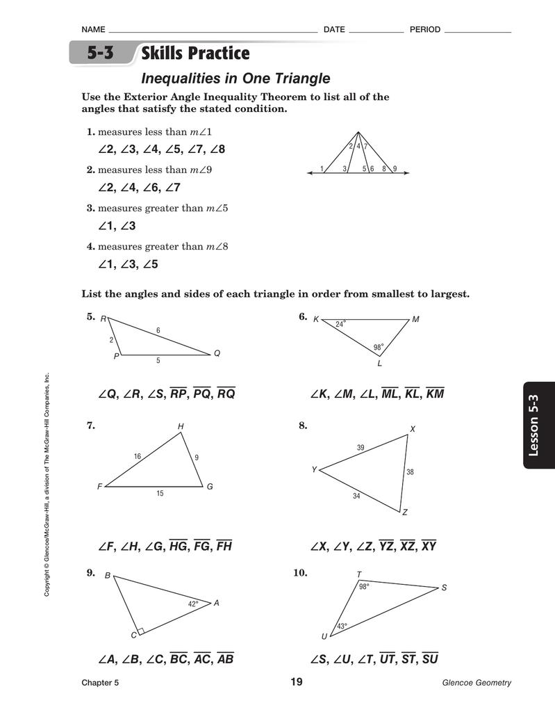 8 4 Skills Practice Trigonometry Worksheet Answers - Geotwitter Kids ...