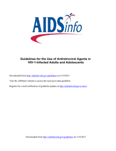 HIV/AIDS Guidelines