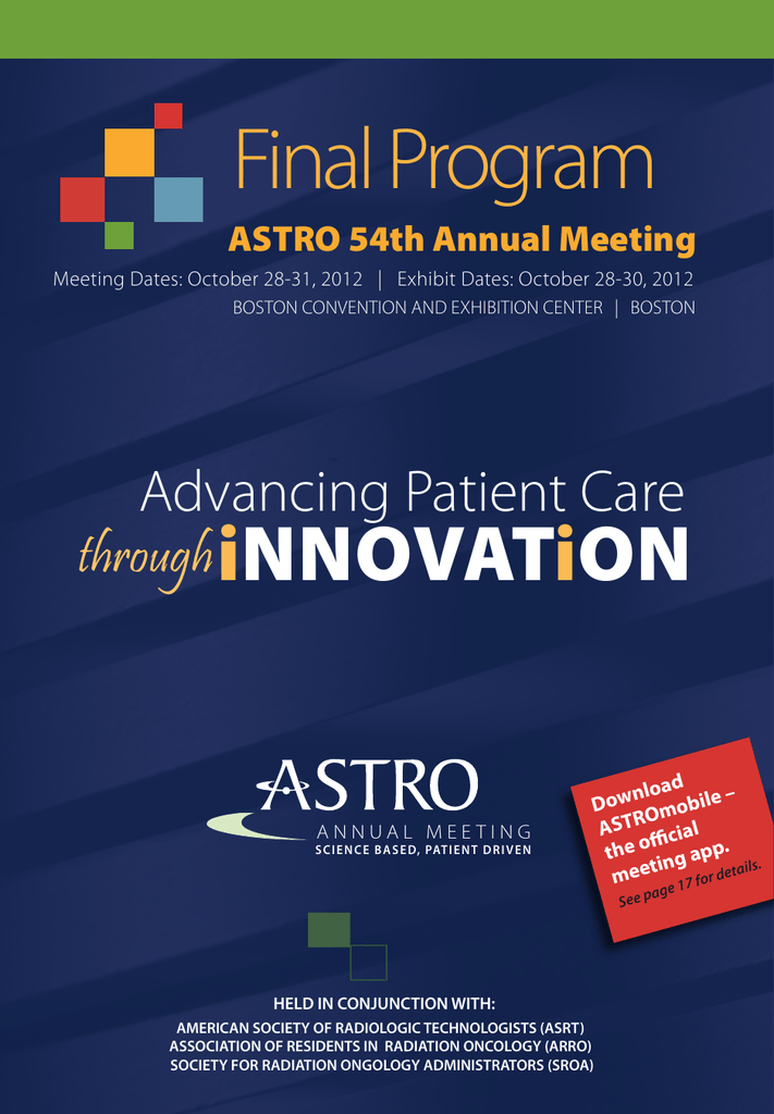 Final Program - American Society for Radiation Oncology