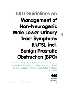 Management of Non-Neurogenic Male Lower Urinary Tract
