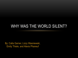 Why Was the World Silent? - DC Everest Website has moved!