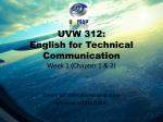 EUW/UUW 212: University English Week 1 (Chapter 1) - CIL