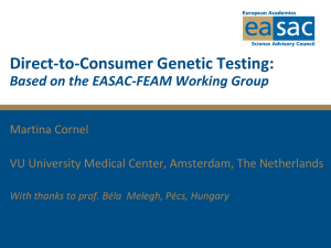 Direct-to-Consumer Genetic Testing - EMGO Institute for Health and