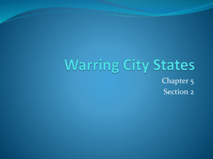 Warring City States - Dr. Afxendiou`s Classes