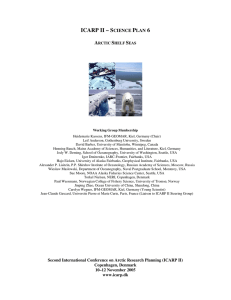 Shelf Seas - International Arctic Science Committee