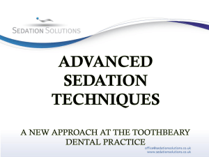 advanced sedation techniques