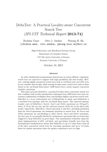 DeltaTree: A Practical Locality-aware Concurrent Search Tree (IFI