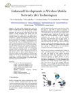 Enhanced Developments in Wireless Mobile Networks