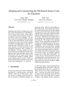 Adopting and Commenting the Old Kernel Source Code for Education