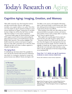Cognitive Aging: Imaging, Emotion, and Memory