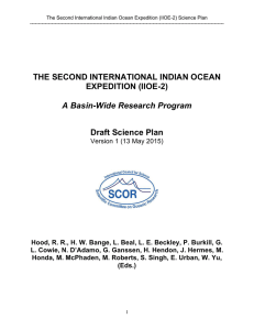 THE SECOND INTERNATIONAL INDIAN OCEAN EXPEDITION
