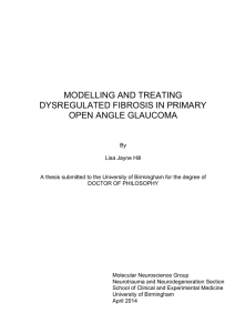Modelling and treating dysregulated fibrosis in primary open angle